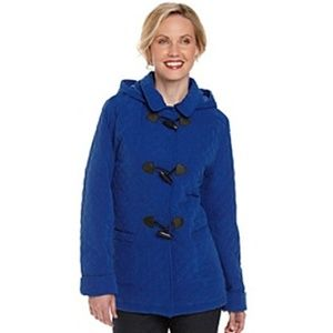 Breckenridge Quilted Toggle Jacket Blue Size L